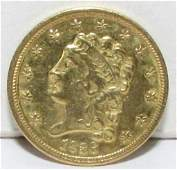 1836 $2.5 CLASSIC HEAD GOLD US COIN
