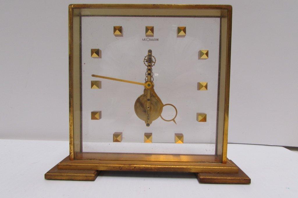LECOULTRE MYSTERY CLOCK MANTEL DESK WIND