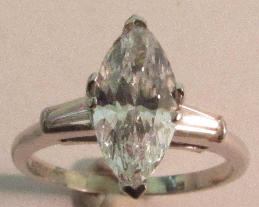1.25CT DIAMOND PLATINUM GOLD RING