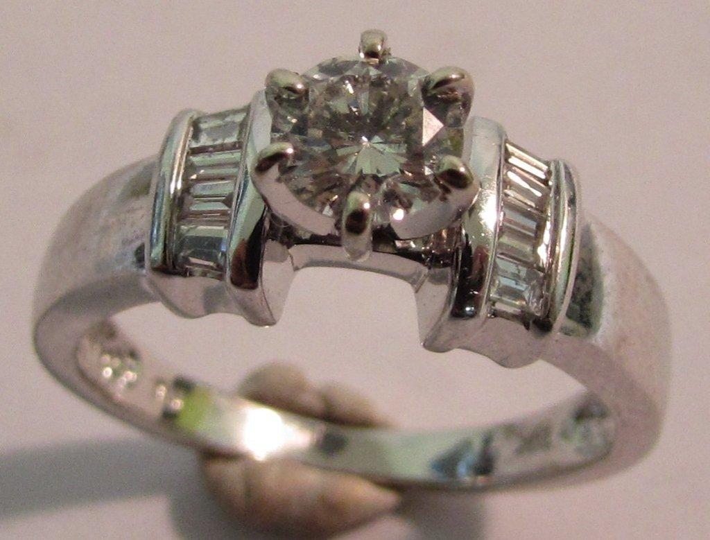.50CT DIAMOND RING 14K WHITE GOLD