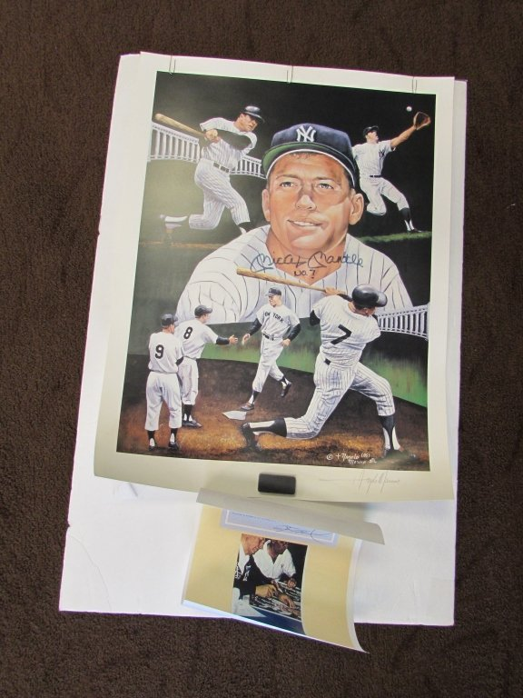 MICKEY MANTLE SIGNED PICTURE #7 BASEBALL AUTOGRAPH