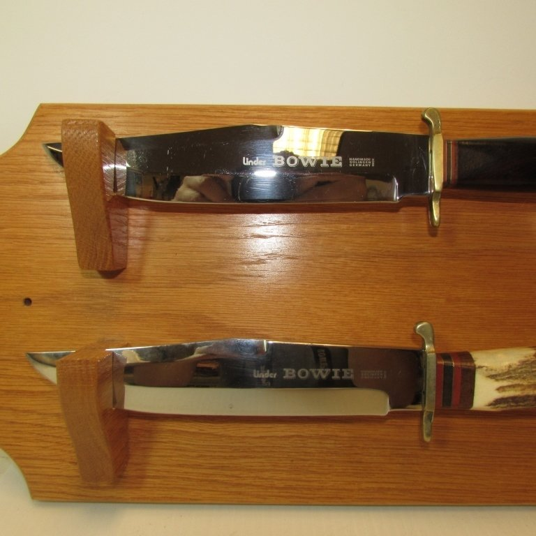 2 BOWIE KNIVES LINDER INOX SOLINGEN GERMANY W DISPLAY - 2