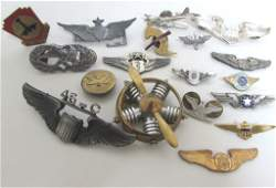 USAF WWII WINGS PINS SWEETHEART MEDALS BADGES ARMY