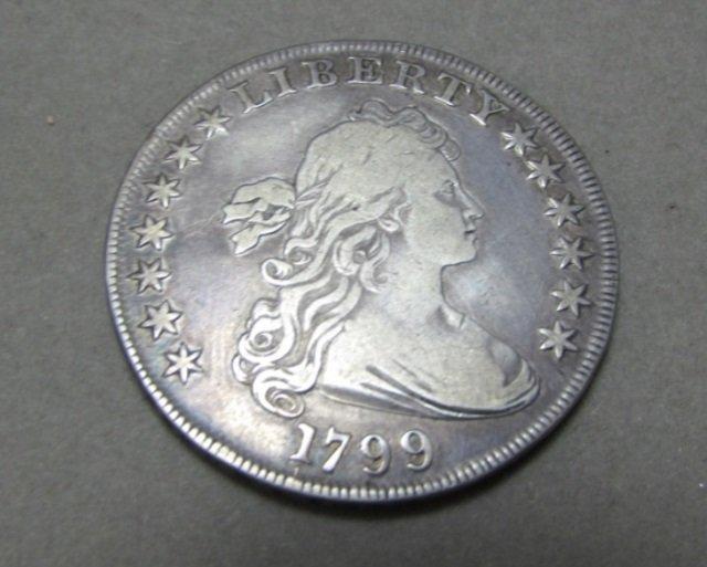 1799 DRAPED BUST DOLLAR HERALDIC EAGLE COIN