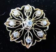 2.50CT DIAMOND PENDANT BROOCH PIN 14K GOLD 11GR