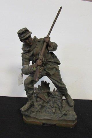 "16.5"" METAL CIVIL WAR SOLDIER STATUE"