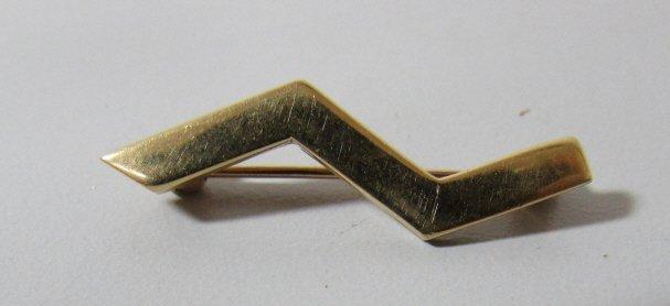 TIFFANY & CO 18K GOLD PIN PALOMA PICASSO ZIGZAG