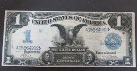 1899 Silver Certificate Black Eagle $1 Us Paper Note