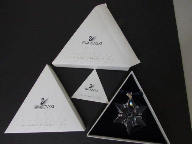 2000 SWAROVSKI CRYSTAL CHRISTMAS ORNAMENT NIB - 2