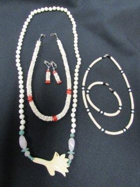Jewelry Wampum Coral Jade Ivory Quartz Silver