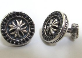 Scott Kay Sapphire Cufflinks Sterling Silver