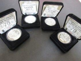 4 Silver Baseball Coins 1oz Each