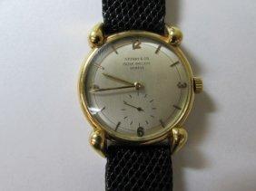 Rare Patek Philippe & Tiffany & Co Wristwatch 18k Gold