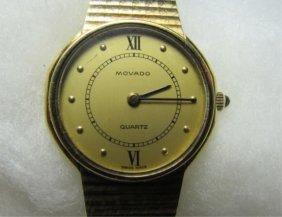 Ladies 14k Gold Movado Wristwatch 30.3 Grams