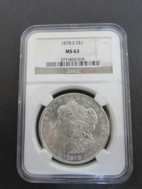 1878 S Ms63 Morgan Silver Dollar Ngc