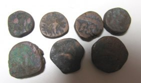 7 Ancient Coins.