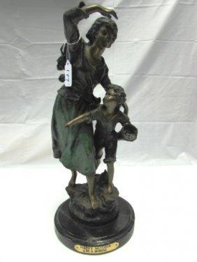 A. Moreau Bronze Happy Mother