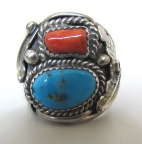 Ella Cowboy Ring Sterling Silver Turquoise