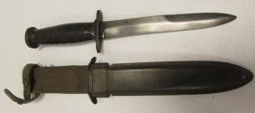 Us Military Combat Knife With Sheath