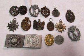 16 Piece Ww2 Nazi Medal Buckle German Badges
