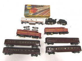 Toy Train Lot Engines Cars Santa Fe Pennsylvania