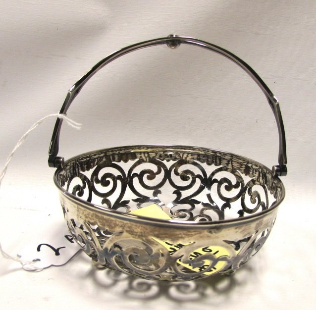 SHEFFIELD STERLING SILVER BASKET RETICULATED