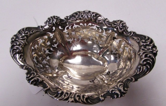 GORHAM ALVIN STERLING SILVER RETICULATED BOWL