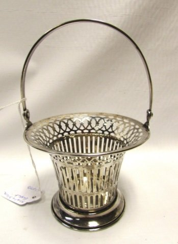 PIERCED RETICULATED STERLING SILVER BASKET BOWL