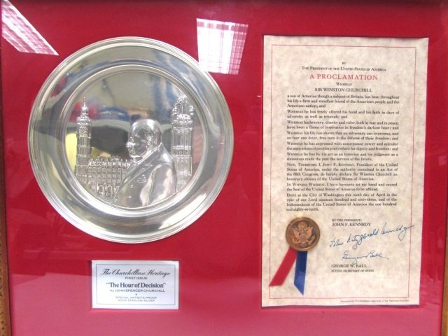 CHURCHILL STERLING SILVER KENNEDY PLATE SIGNATURE