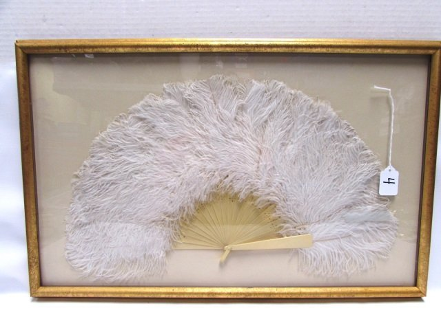 OSTRICH FEATHER HAND FAN IN FRAME