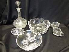 CRYSTAL GLASS LOT WATERFORD CLOCK VASE BOWL DISH