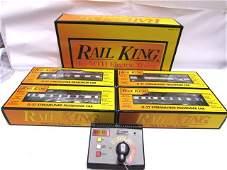 RAILKING TOY TRAIN LOT CARS MTH DIESEL SET IN BOX