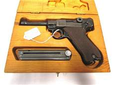 LUGER PISTOL 9mm IN BOX NAZI PROOF WWII