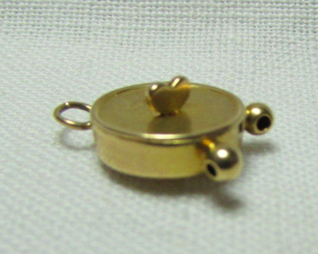 14k GOLD CLOCK CHARM MOVABLE HANDS REMINDER TIME - 5
