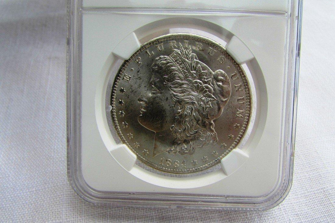 1884 O MORGAN SILVER DOLLAR MS63 NGC UNC $1 - 2
