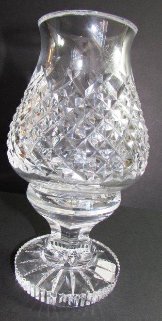 WATERFORD CRYSTAL HURRICANE LAMP  ALANA VOTIVE 2PC