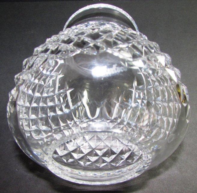 WATERFORD CRYSTAL HURRICANE LAMP  ALANA VOTIVE 2PC - 4