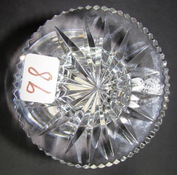 WATERFORD CRYSTAL HURRICANE LAMP  ALANA VOTIVE 2PC - 5
