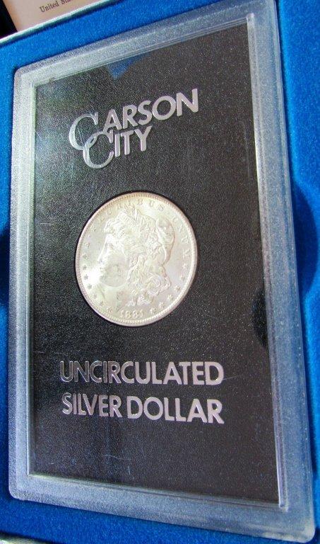 1881 CARSON CITY GSA SILVER DOLLAR CC UNC MORGAN