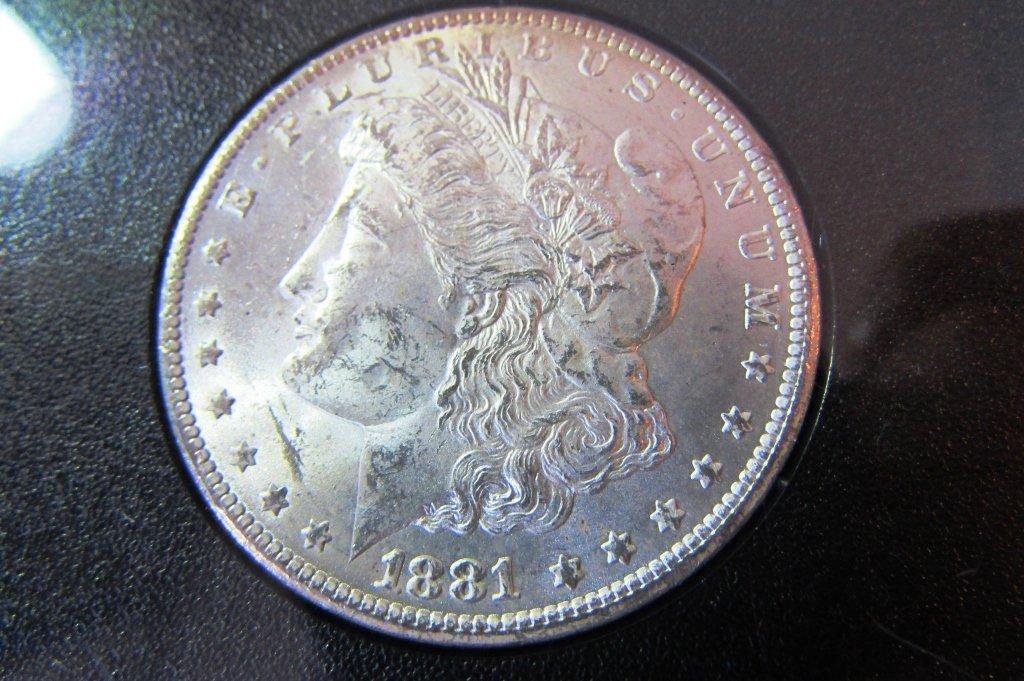 1881 CARSON CITY GSA SILVER DOLLAR CC UNC MORGAN - 2