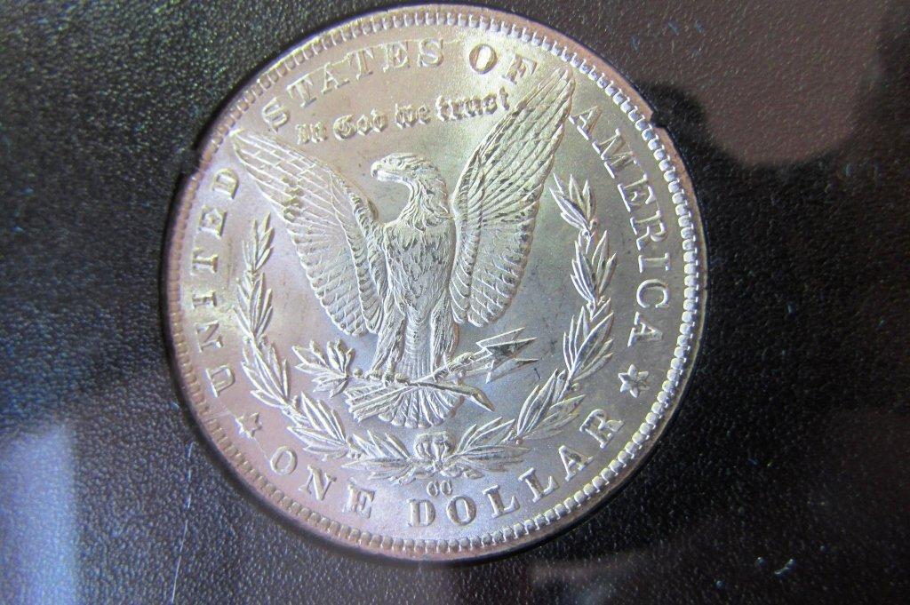 1881 CARSON CITY GSA SILVER DOLLAR CC UNC MORGAN - 4