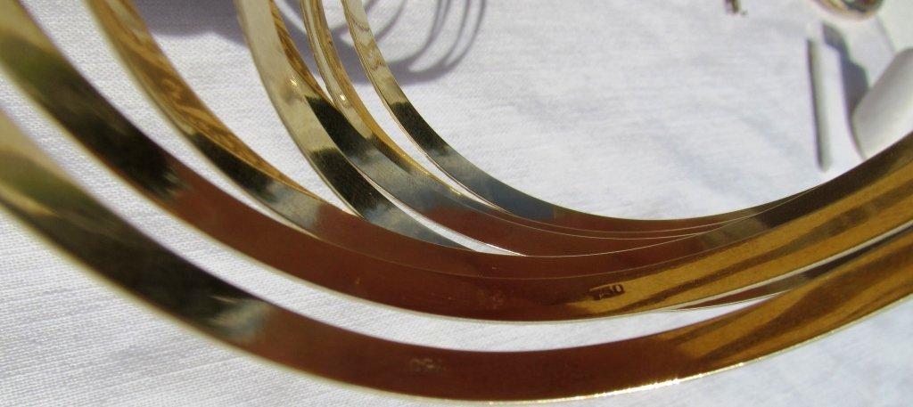 SEVEN 18k GOLD BRACELETS BANGLES SEMANARIOS 47.9GR - 5
