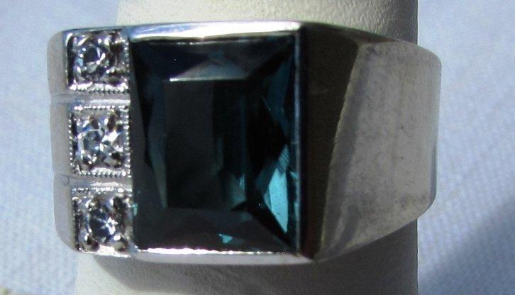 DIAMOND TOPAZ RING 10K GOLD 6.5 GRAMS SIZE 8 - 2