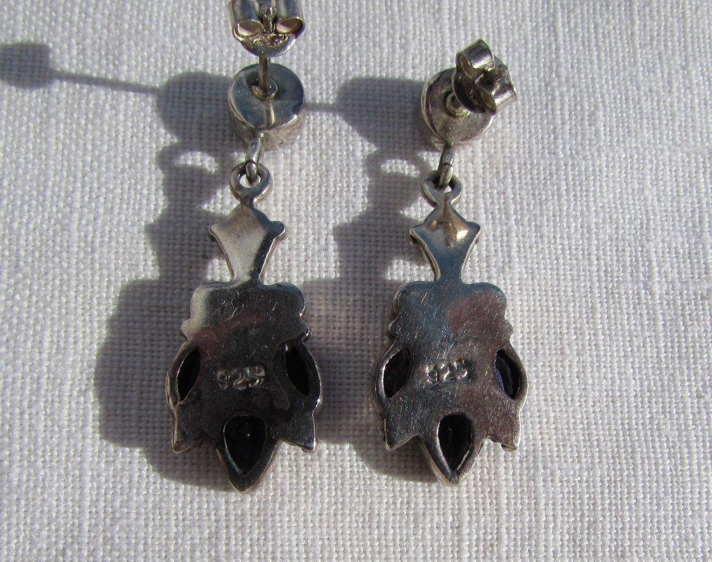 IOLITE STERLING SILVER EARRINGS 6.5 g PIERCED - 3