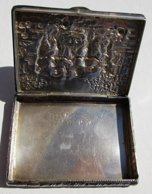800 STERLING SILVER CARD HOLDER CIGARETTE REPOUSSE - 2