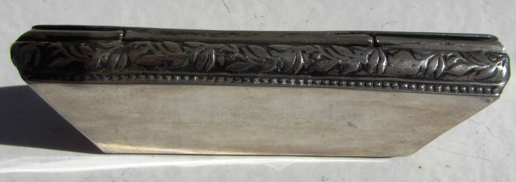 800 STERLING SILVER CARD HOLDER CIGARETTE REPOUSSE - 5