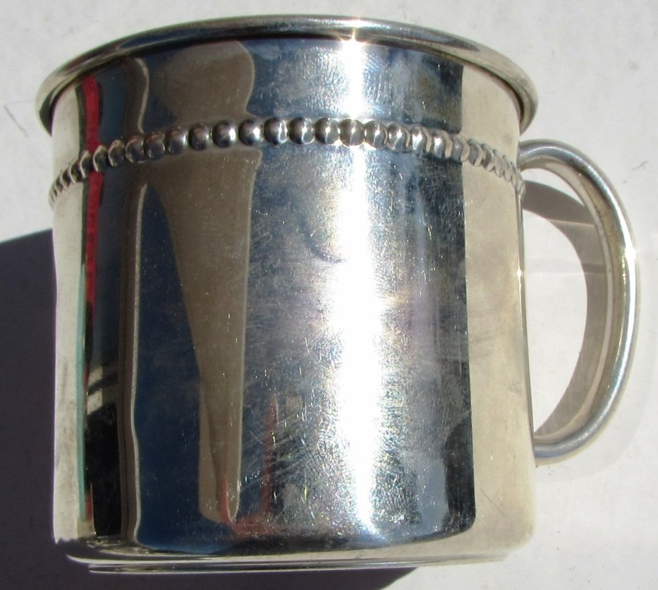 STERLING SILVER BABY CUP REED & BARTON 70 GRAM - 5