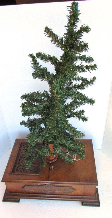 GERMAN CHRISTMAS TREE MUSIC BOX ANTIQUE CHRISTBAUM