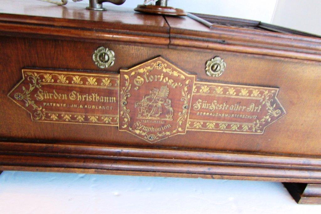 GERMAN CHRISTMAS TREE MUSIC BOX ANTIQUE CHRISTBAUM - 4