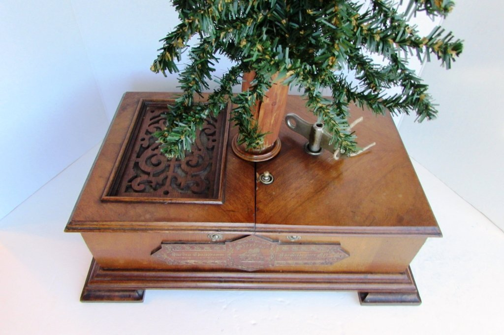 GERMAN CHRISTMAS TREE MUSIC BOX ANTIQUE CHRISTBAUM - 5
